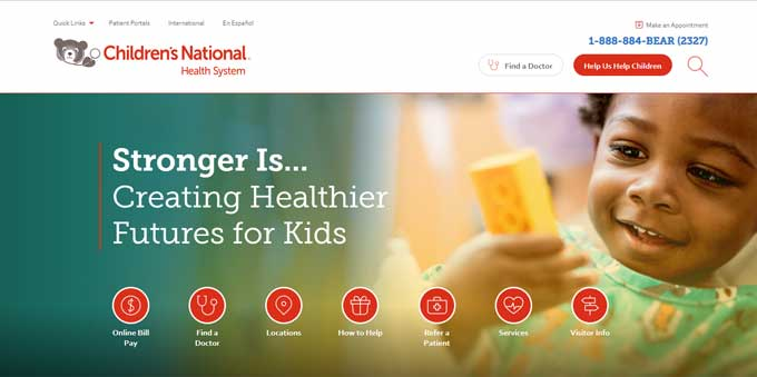 Childrens National Health System Website Design
