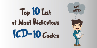 Top 10 List of Most Ridiculous ICD-10 Codes