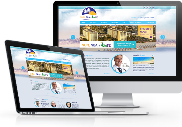 Medical Conferences Website Design