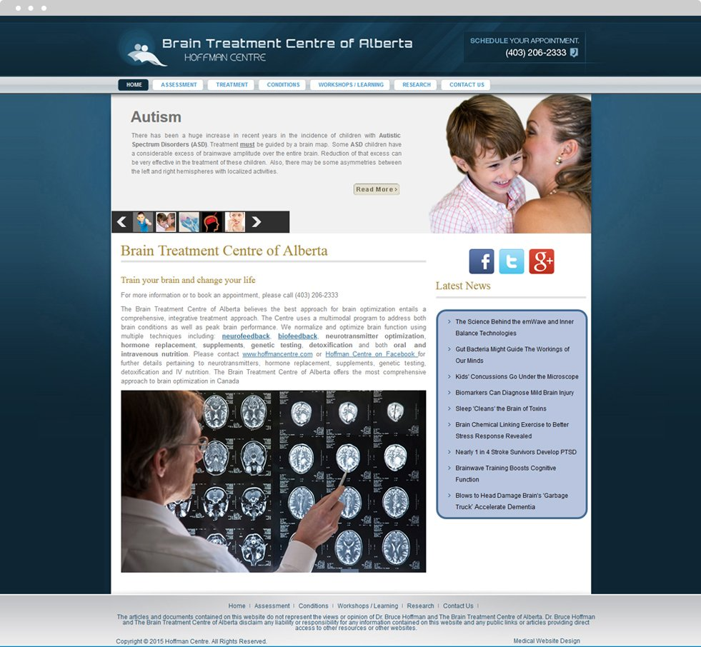 Psychiatry Website Design