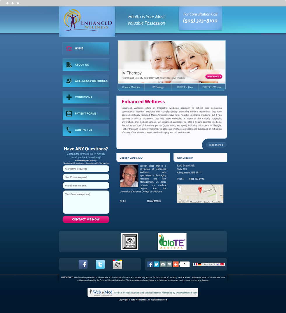 Alternative Medicine Website Design