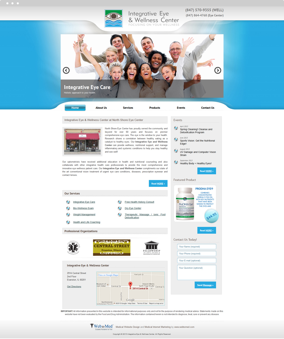 Ophthalmology Website Design