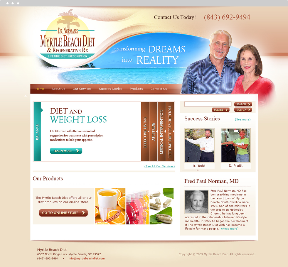 Weight Loss Website Design