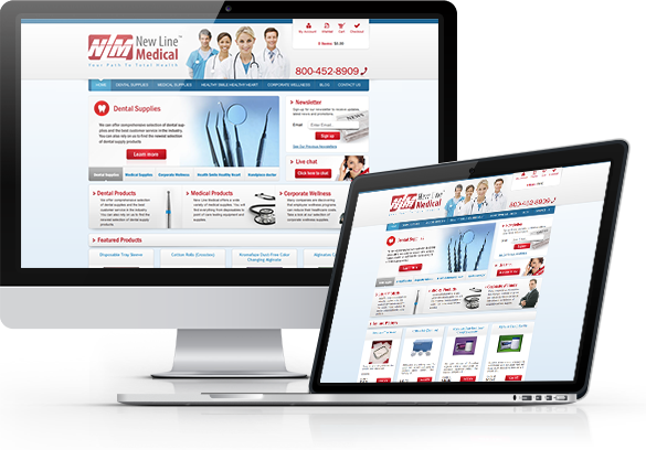 Medical E-Commerce Website Design