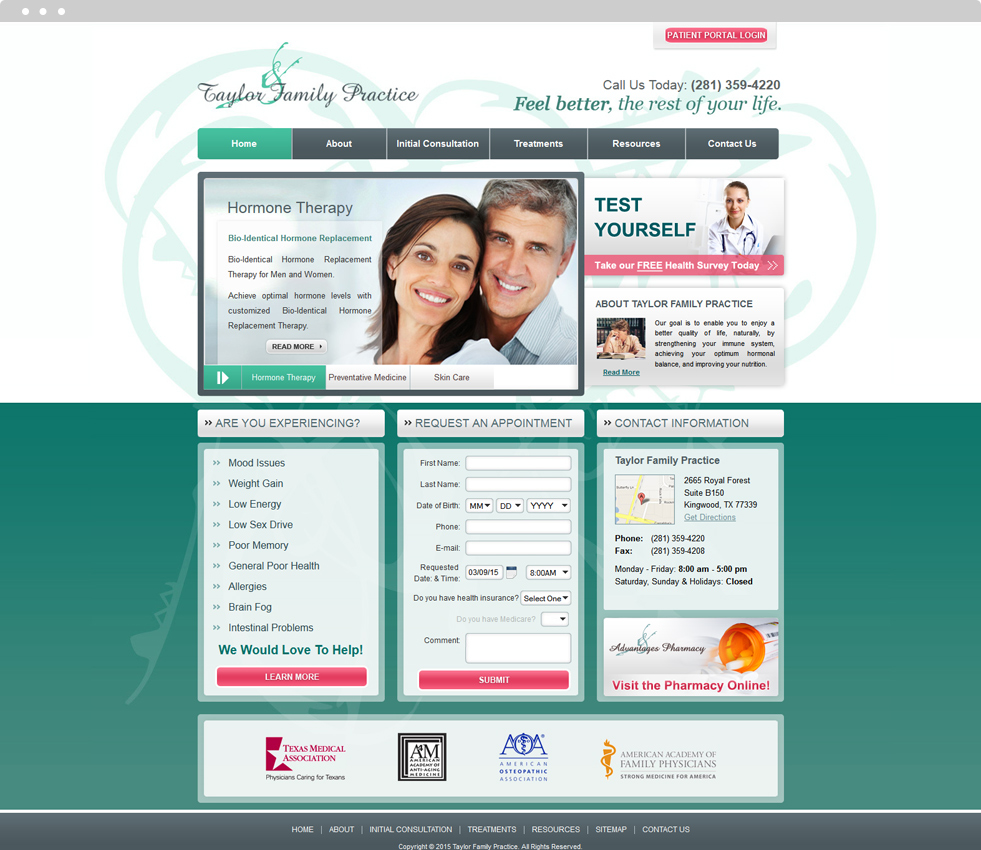 Family Medicine Website Design