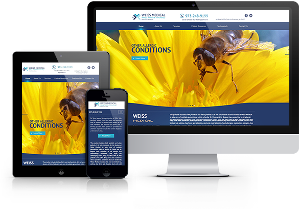 Allergy Website Design