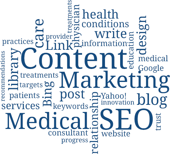 Health Content Marketing Word Image